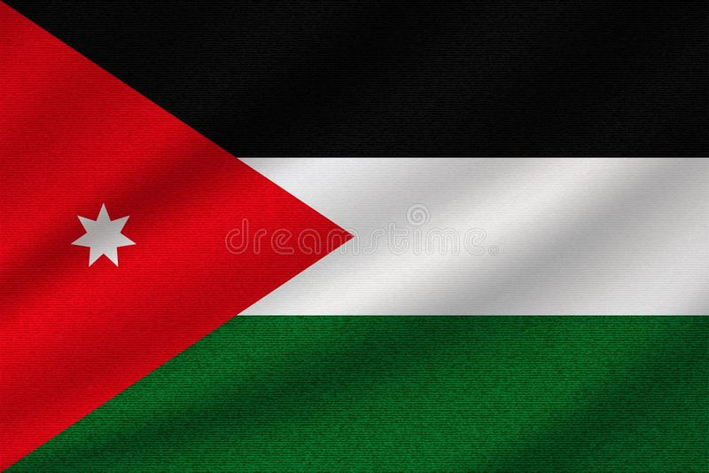 Drapeau national de la Jordanie illustration de vecteur