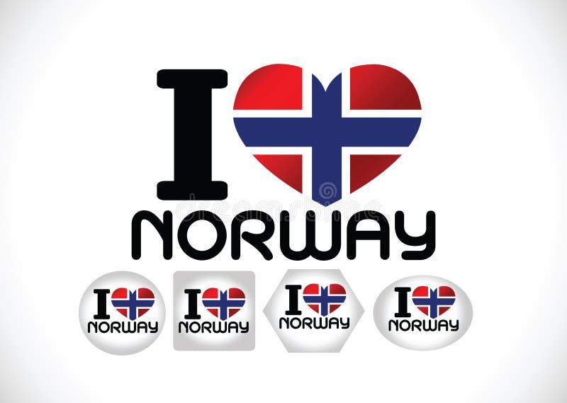 Drapeau national de la Norvège illustration stock
