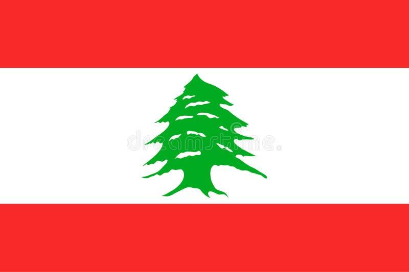 Drapeau national de la république Libanaise illustration stock