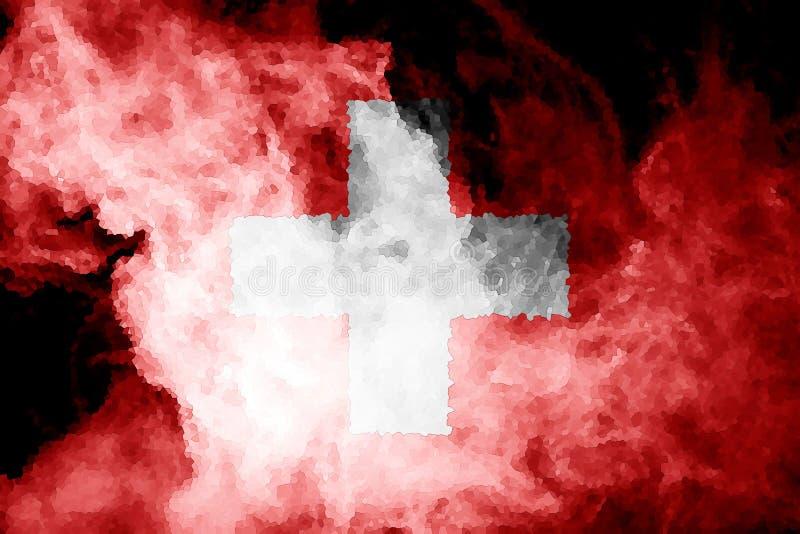 Drapeau national de la Suisse illustration libre de droits