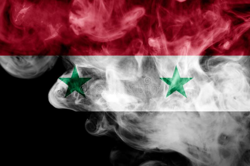 Drapeau national de la Syrie illustration stock
