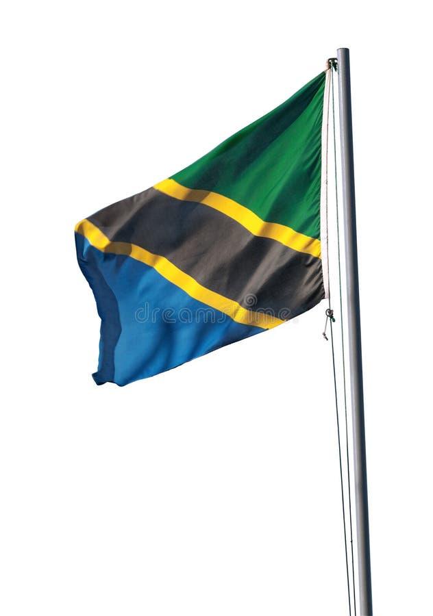 Drapeau national de la Tanzanie photographie stock libre de droits