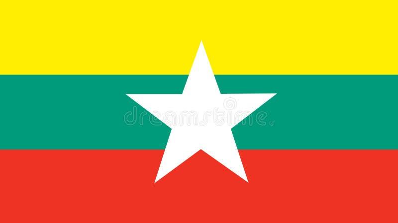 Drapeau national de myanmar Fond avec le drapeau o Myanmar illustration libre de droits