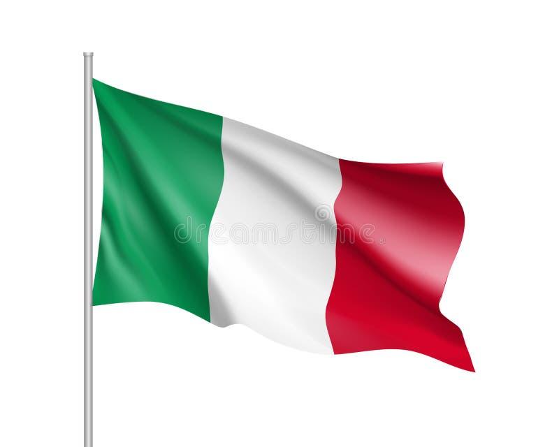 Drapeau national de pays de l'Italie illustration stock