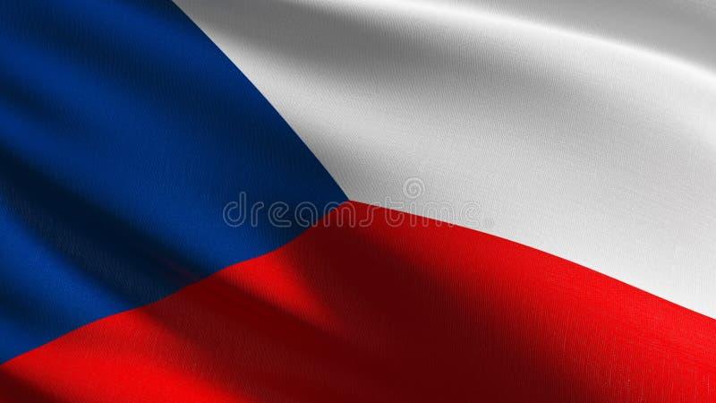 Drapeau national de République Tchèque soufflant dans le vent d'isolement Conception abstraite patriotique officielle illustratio illustration libre de droits
