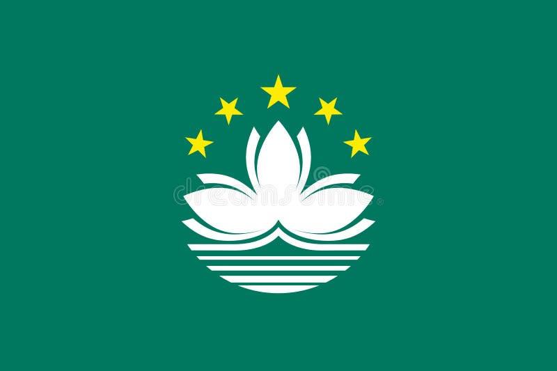 Drapeau national de vecteur de Macao illustration de vecteur