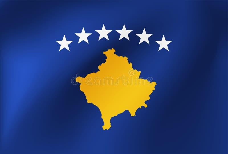Drapeau national de vecteur de Kosovo Illustration pour des ?v?nements de comp?tition sportive, traditionnels ou d'?tat illustration de vecteur
