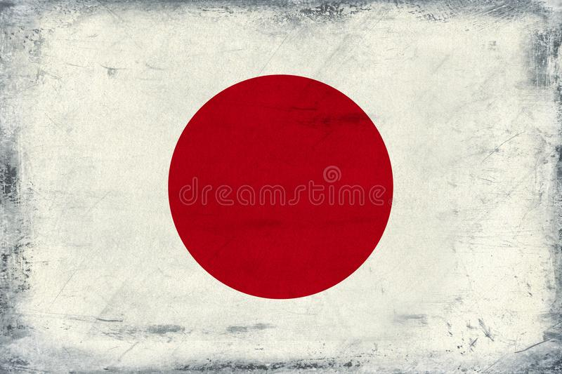 Drapeau national de vintage de fond du Japon photographie stock libre de droits