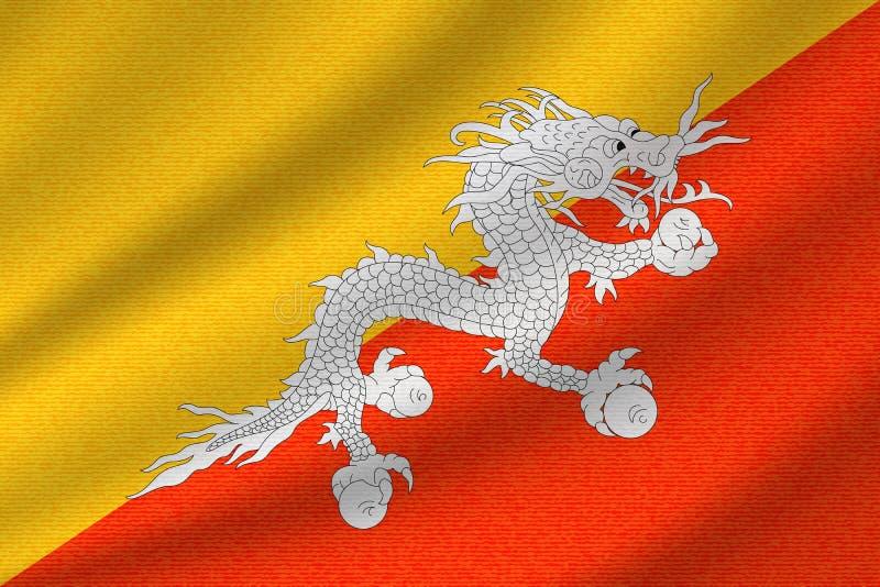 Drapeau national du Bhutan illustration stock