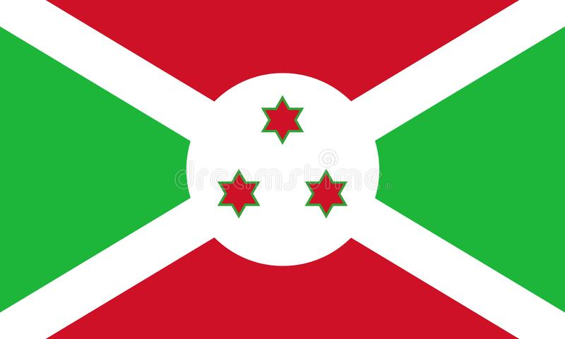 Drapeau national du Burundi illustration de vecteur