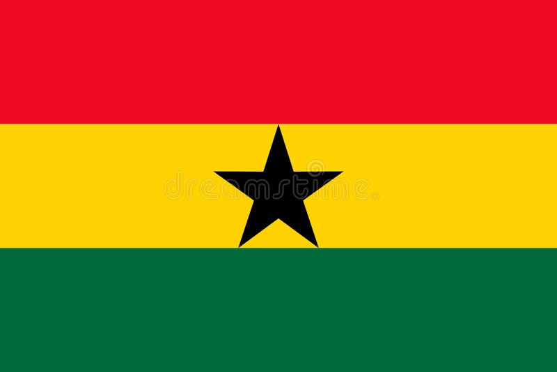 Drapeau national du Ghana Illustration de vecteur accra illustration de vecteur