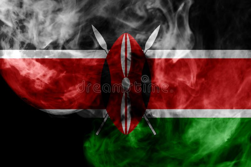 Drapeau national du Kenya illustration libre de droits
