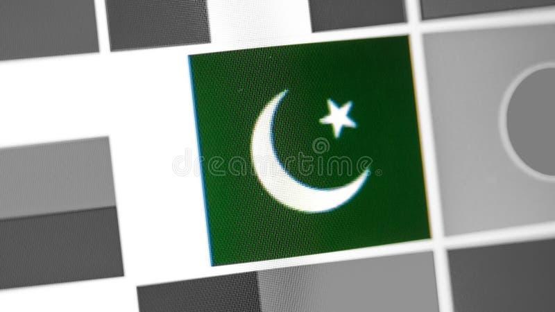 Drapeau national du Pakistan de pays Drapeau du Pakistan sur l'affichage, un effet de moire numérique image stock