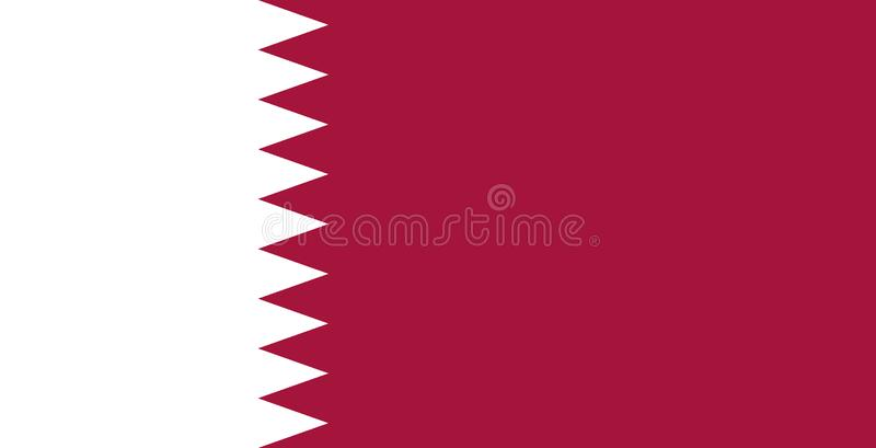 Drapeau national du Qatar Illustration de vecteur Al Adaam illustration de vecteur