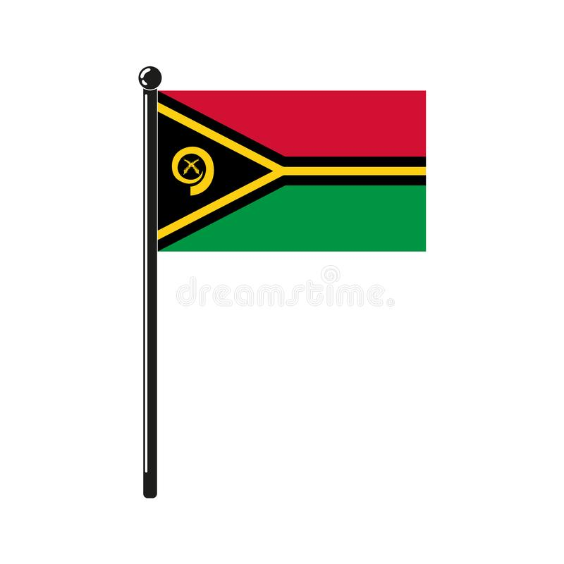 Drapeau national du Vanuatu illustration de vecteur