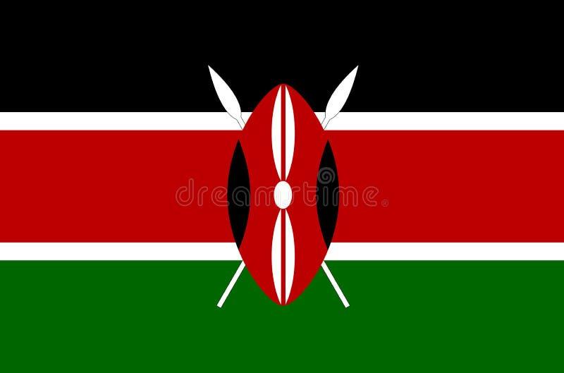 Drapeau national kenyan Drapeau officiel du Kenya, couleurs précises illustration de vecteur