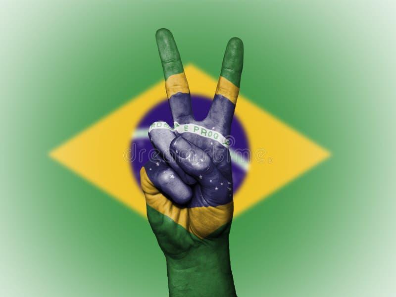 Drapeau national patriotique du Brésil illustration stock