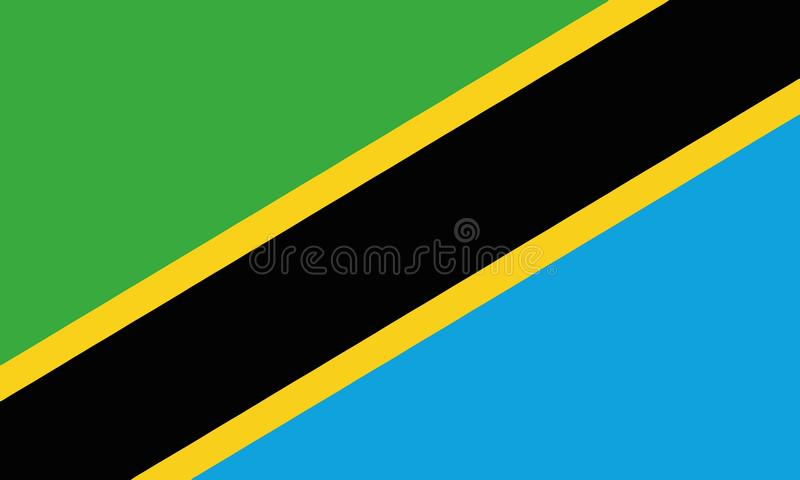 Drapeau national Tanzanie illustration libre de droits