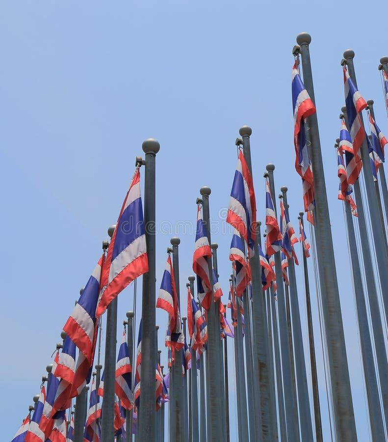 Drapeau national thaïlandais Thaïlande photo stock