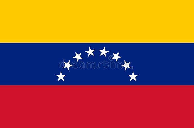 Drapeau national vénézuélien, drapeau officiel de couleurs précises du Venezuela illustration libre de droits