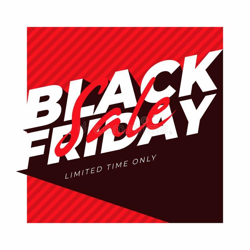 Drapeau noir de vente de vendredi illustration stock