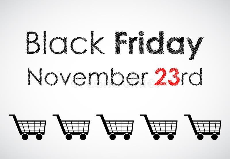 Drapeau noir spécial de vendredi illustration stock