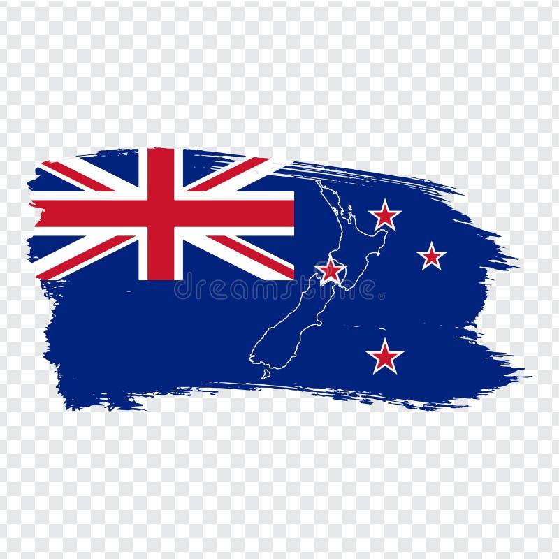 Drapeau Nouvelle-Zélande des courses et de la carte vide Nouvelle-Zélande de brosse Carte de haute qualité du Nouvelle-Zélande et illustration de vecteur
