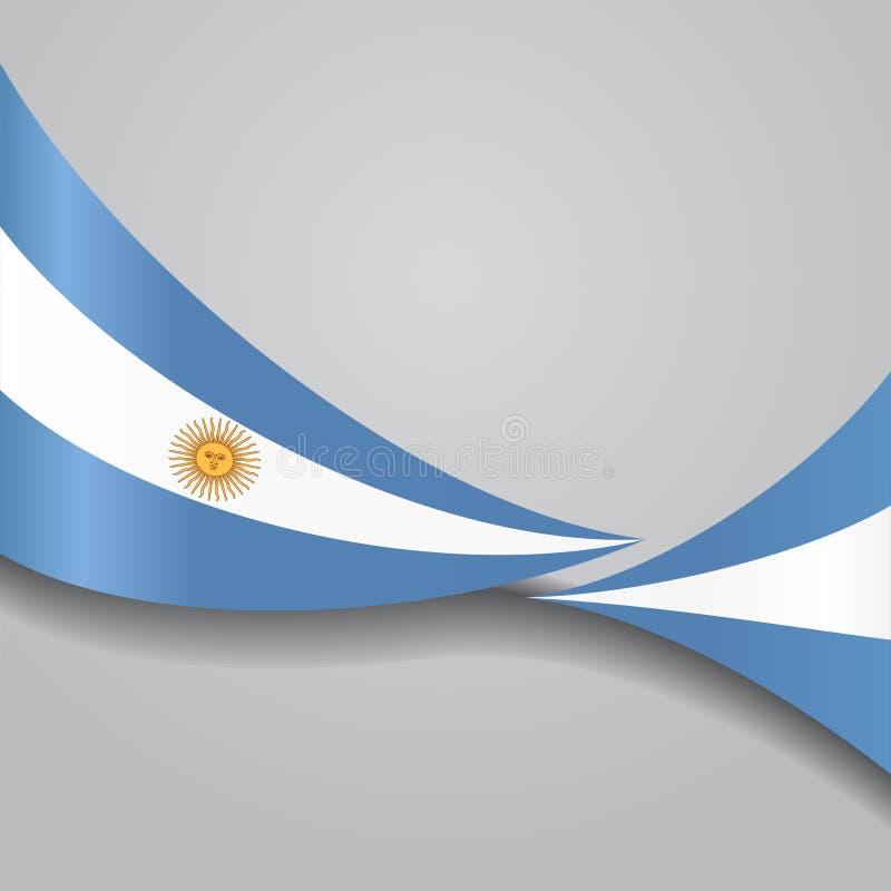 Drapeau onduleux argentin Illustration de vecteur illustration de vecteur