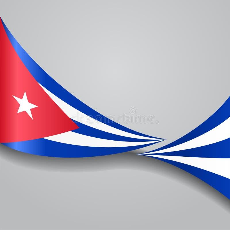 Drapeau onduleux cubain Illustration de vecteur illustration de vecteur