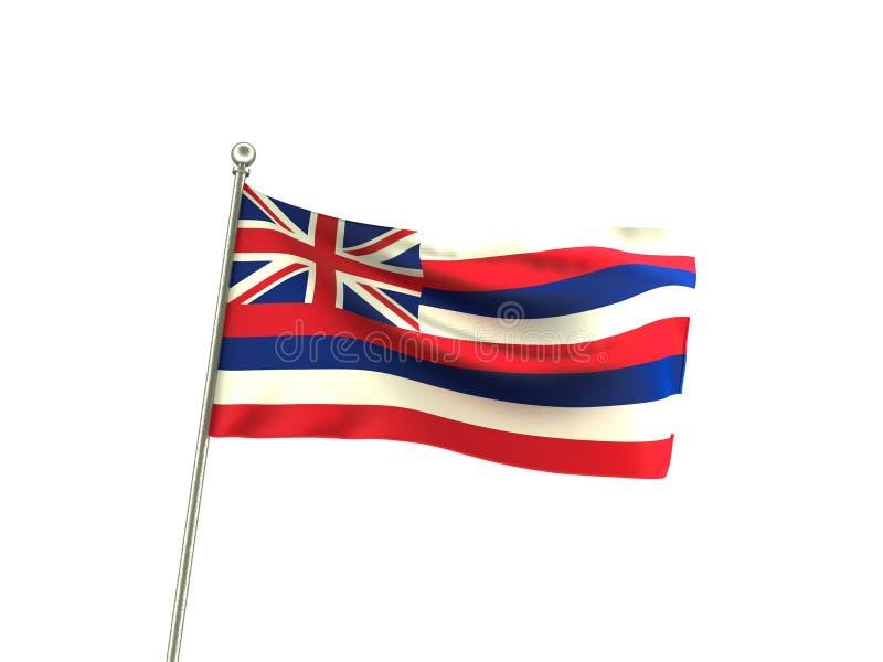 Drapeau onduleux d'Hawaï illustration de vecteur