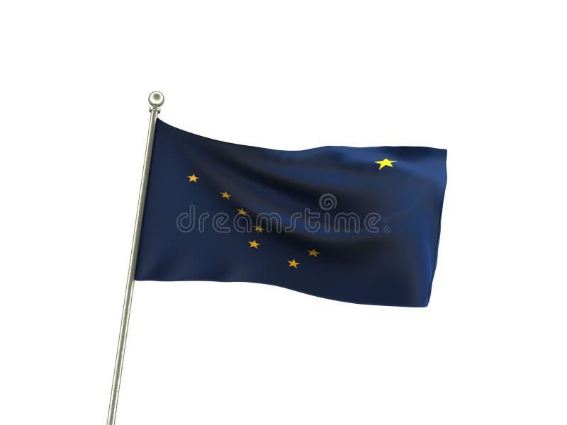 Drapeau onduleux de l'Alaska illustration libre de droits