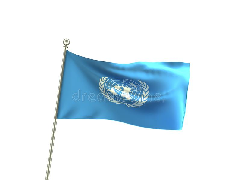 Drapeau onduleux de l'ONU les Nations Unies illustration de vecteur