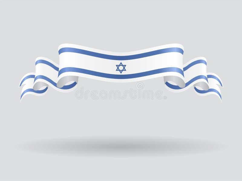 Drapeau onduleux israélien Illustration de vecteur illustration de vecteur