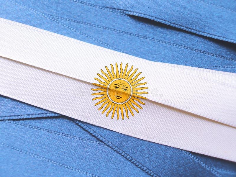 Drapeau ou bannière ARGENTIN images libres de droits