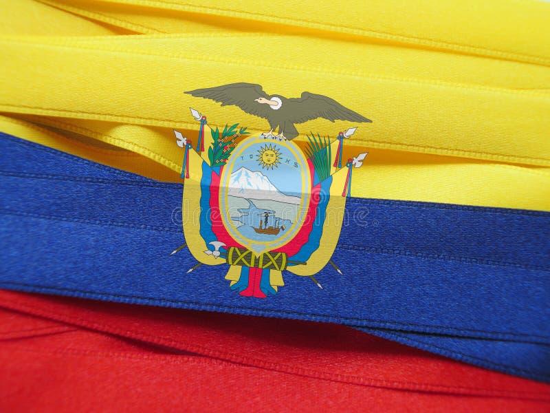 Drapeau ou bannière de l'Equateur photos stock