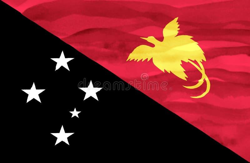Drapeau peint de la Papouasie-Nouvelle-Guinée photographie stock
