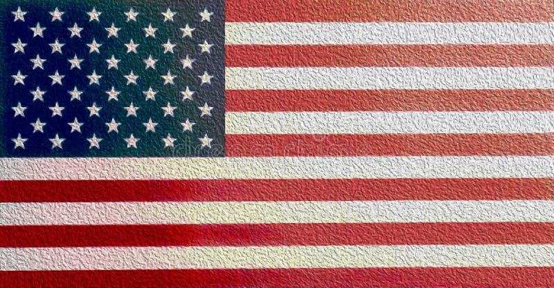 Drapeau peint des Etats-Unis illustration de vecteur