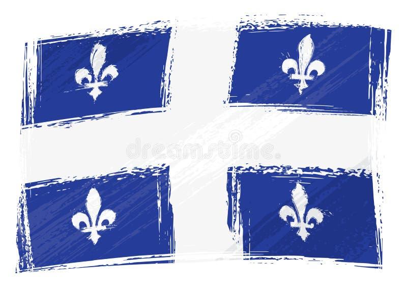 Drapeau peint grunge d'état du Québec illustration de vecteur
