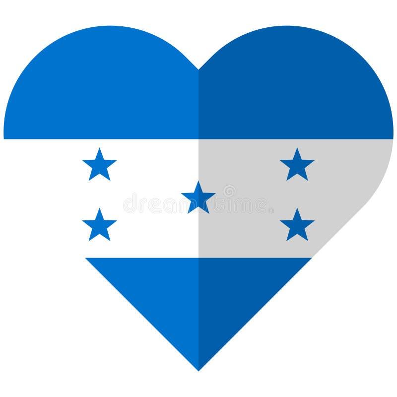 Drapeau plat de coeur du Honduras illustration de vecteur