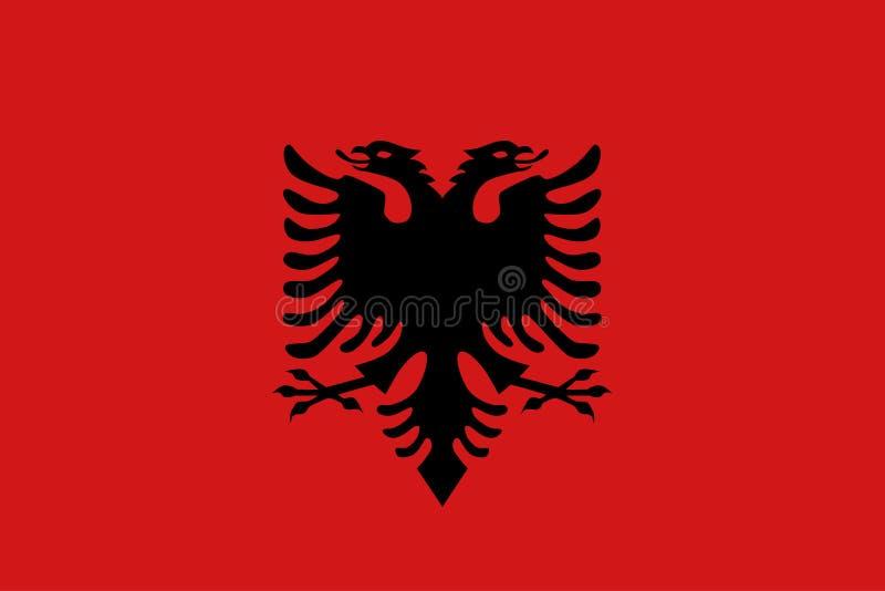 Drapeau plat de l'Albanie illustration libre de droits