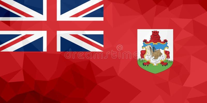 Drapeau polygonal des Bermudes Fond moderne de mosaïque Dessin géométrique illustration libre de droits
