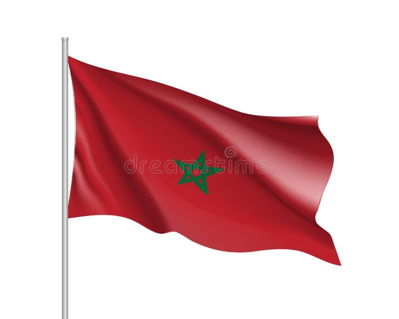 Drapeau réaliste de Marocco illustration de vecteur