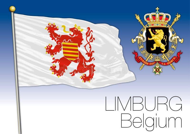 Drapeau régional de Limbourg, Belgique illustration libre de droits