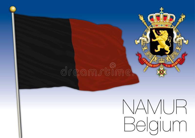 Drapeau régional de Namur, Belgique illustration stock