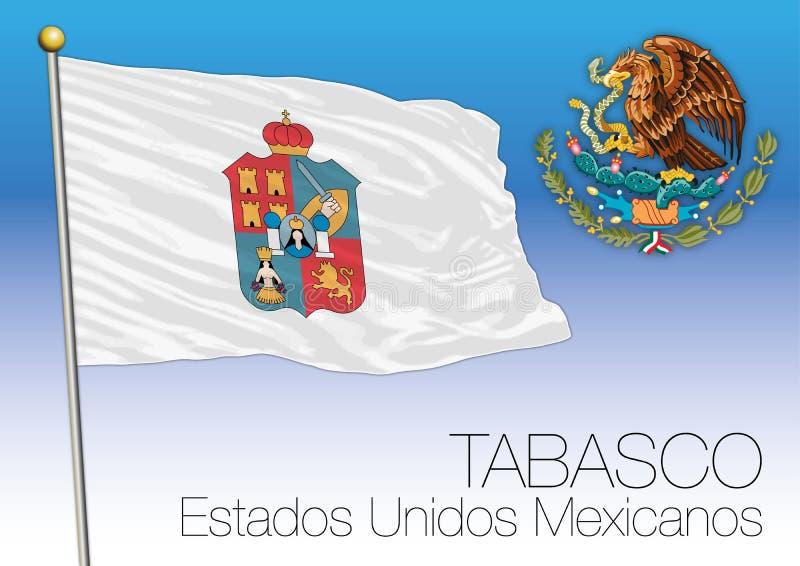 Drapeau régional de Tabasco, États-Unis du Mexique, Mexique illustration de vecteur