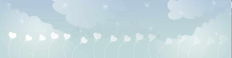 Drapeau rêveur de ciel image libre de droits