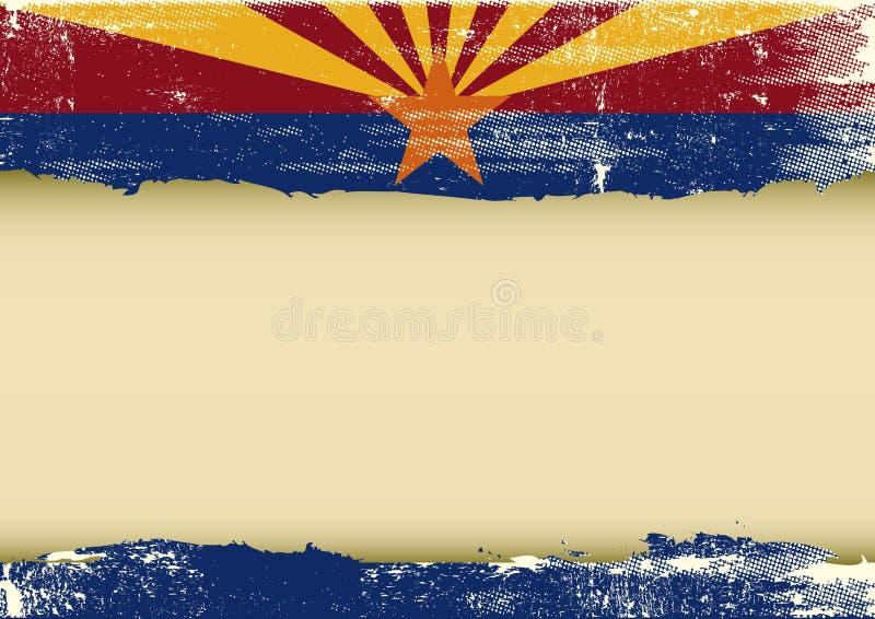 Drapeau rayé horizontal de l'Arizona illustration de vecteur