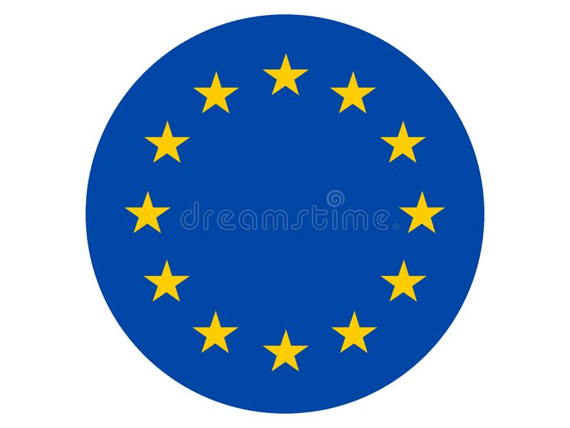 Drapeau rond d'UE illustration stock