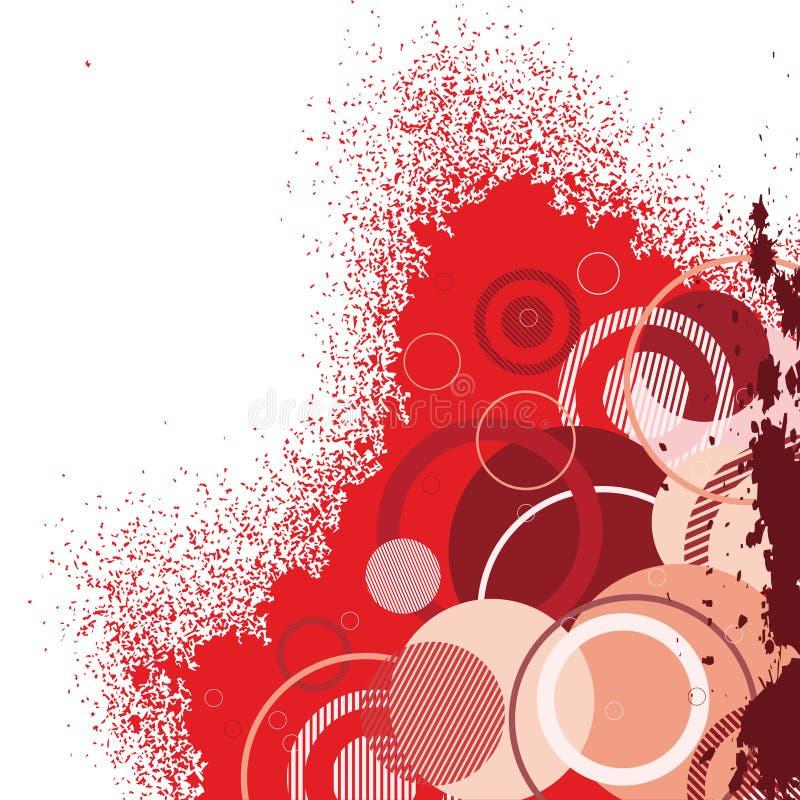 Drapeau rouge élégant illustration libre de droits