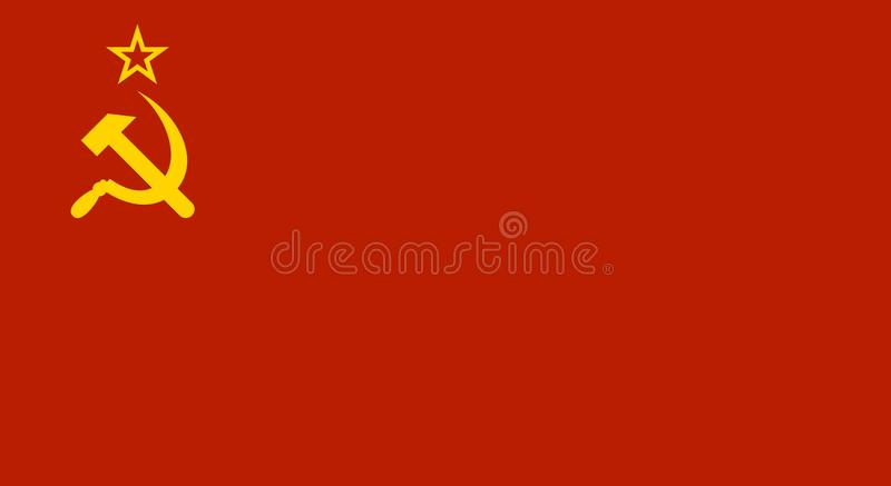 Drapeau rouge d'Union Soviétique de l'URSS Vecteur illustration stock